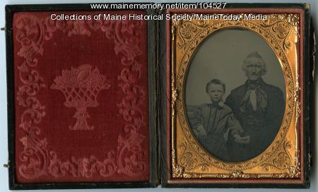 Portrait of Adam Winslow and his grandson Adam, ca. 1860