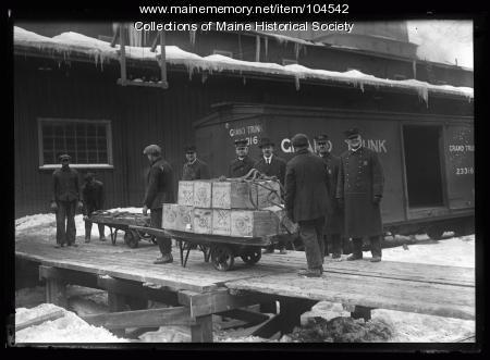 Contraband Canadian liquor, Portland, ca. 1920