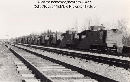 Bangor and Aroostook Railroad snowplows, ca.1940