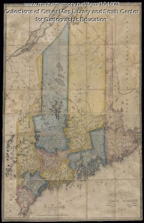 Greenleaf map of the State of Maine, 1820
