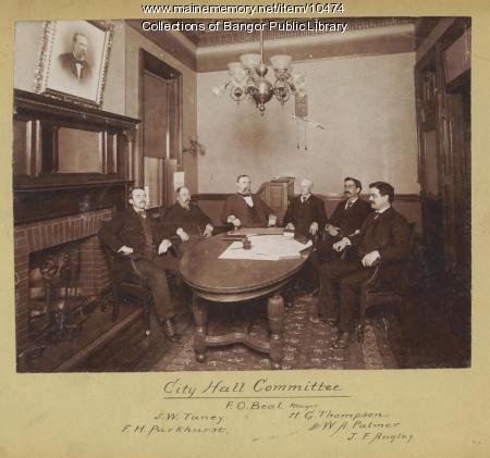 Bangor City Hall Committee, ca. 1894