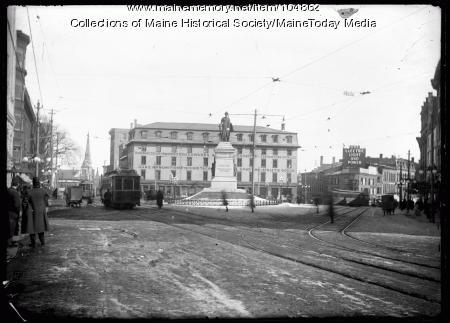 Monument Square, Portland, ca. 1920