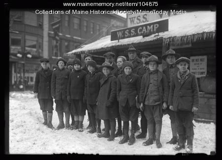 War savings stamps camp, Portland, 1920