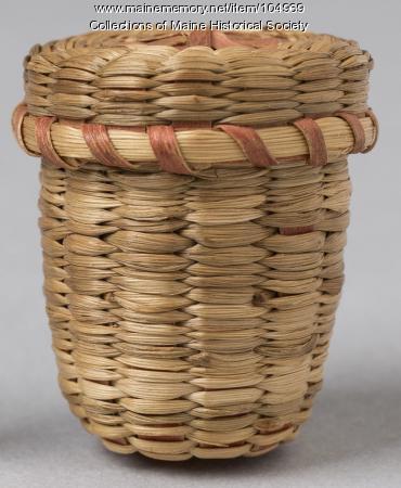 Marie Bibeau Masta thimble basket, Portland, ca. 1910