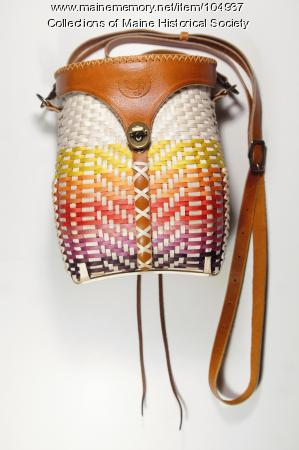Gabriel Frey pack basket purse, Orono, 2019