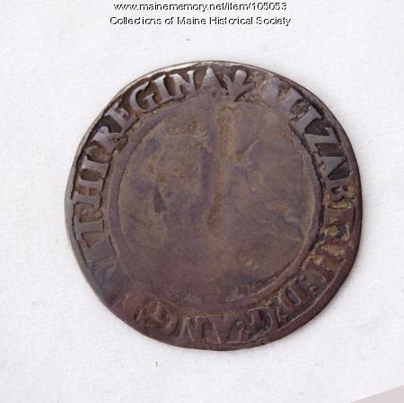 Queen Elizabeth I English sixpence coin, Richmond Island, 1563