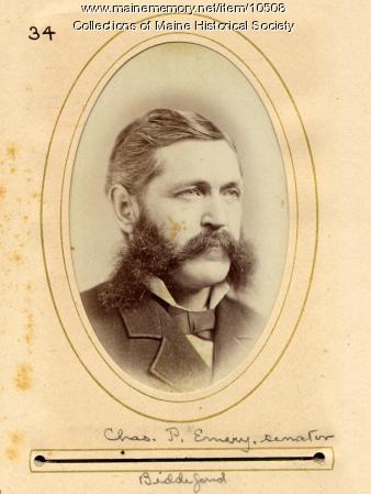 Charles P. Emery, Senator, Maine State Legislature, 1880