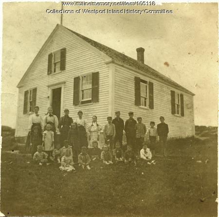 North End School class picture, Westport Island, ca. 1895