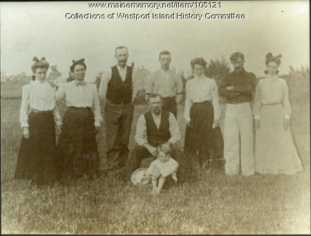 Charles E. Colby family, Westport Island, ca. 1904