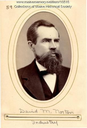 David M. Norton of Industry, Maine State Legislature, 1880
