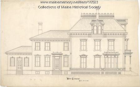 George Varney home, Bangor, 1873