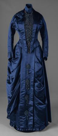 Annie Corbett's beaded fancy occasion dress, Portland, ca. 1880