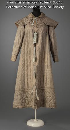 "Sarah Bowman Winter's ""fancy weave"" coat, Bath, ca. 1825"