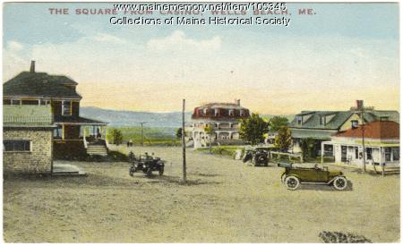 View of the square from the casino, Wells Beach, ca. 1915