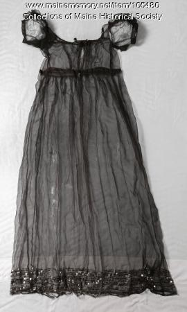 Harriet Coffin Thom's sheer overdress, ca. 1815