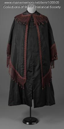 Two piece cape and shawl,  ca. 1855