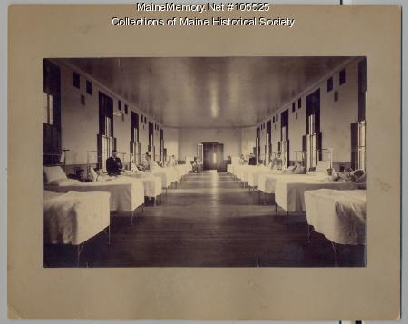 Women's ward at Maine General Hospital, Portland, 1890