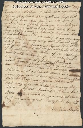 William Bayley to mother, May 9, 1779
