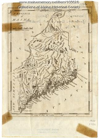 District of Maine map, 1796