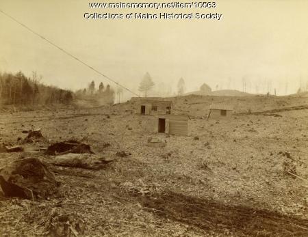 Site of Pejepscot Paper Company construction, Topsham, 1893