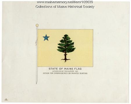 State of Maine flag design, 1901