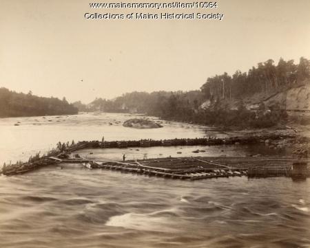 Pejepscot Dam work, Topsham, 1893