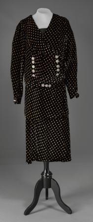 Velvet polka dot ensamble, Paris, France, ca. 1926
