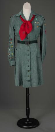 Beverly Conant's Girl Scout uniform, Farmington, ca. 1945
