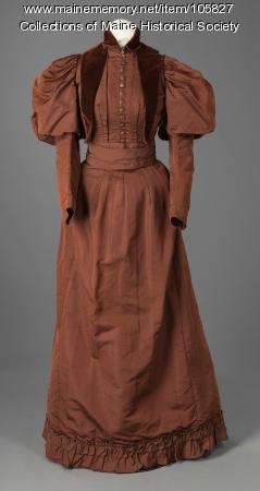 Harriet Williamson's updated trousseau dress, Milan, NH, ca. 1890