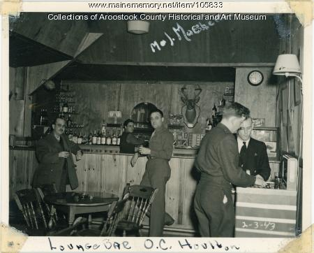 Interior of the Officers Club at the Houlton Air base, 1943