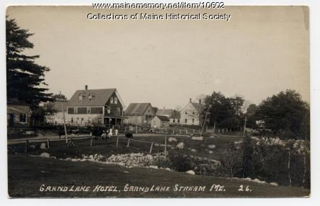 Grand Lake Hotel, Grand Lake Stream, ca. 1914