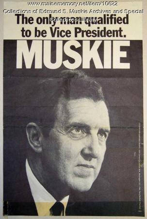 Vice presidential campaign poster, 1968