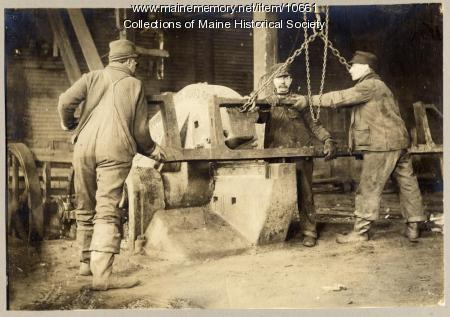 Workers at scrap company, Portland, ca. 1909
