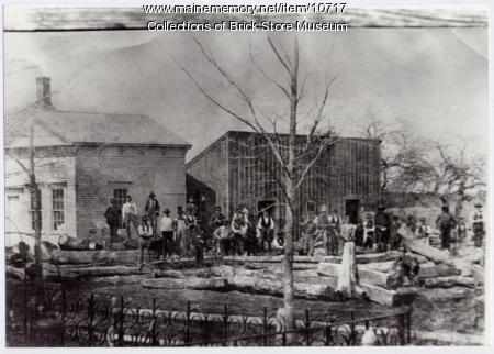 Titcomb shipyard, Kennebunk Landing, ca. 1850-60