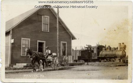 Monson Railroad Station and Narrow Gauge train
