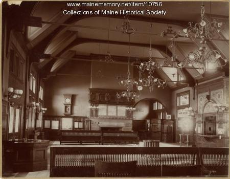 Waiting room, Union Station, Portland, ca. 1890