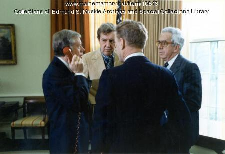 President Jimmy Carter, Edmund Muskie, Washington, D.C., January 20, 1980