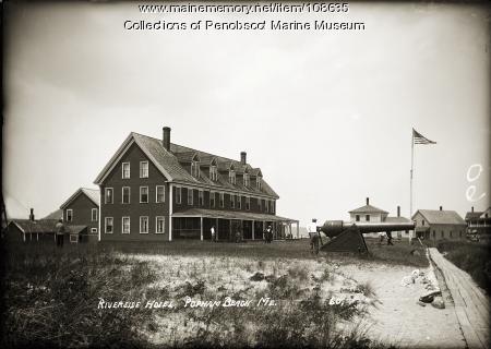 Riverside Hotel, at Popham Beach, Phippsburg, ca. 1910