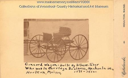 Concord Wagon built by Silas W. Taber, Houlton, ca. 1900