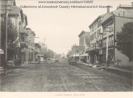 Court Street, Houlton, ca. 1890
