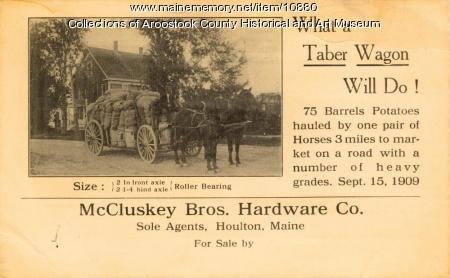 Taber Wagon advertisement