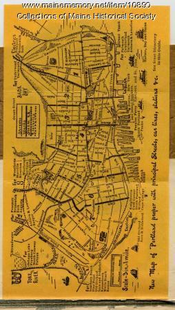 Map of Portland, 1909