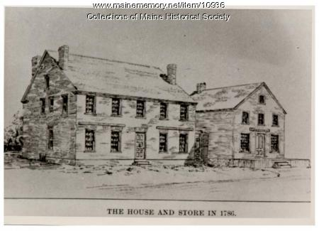 Wadsworth-Longfellow house and store, Portland, 1786