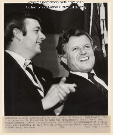 Senator Kennedy on campaign tour, 1980
