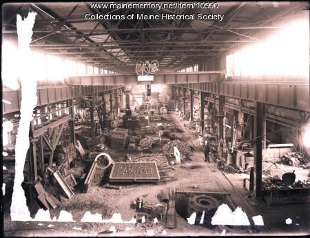 Foundry floor, Portland Company, ca. 1890