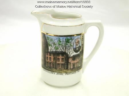 Miniature Longfellow-Wadsworth House Pitcher, ca. 1910