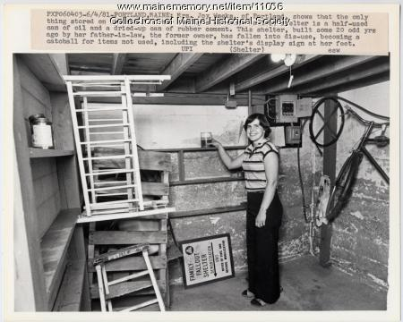 Family fallout shelter, Portland, 1981
