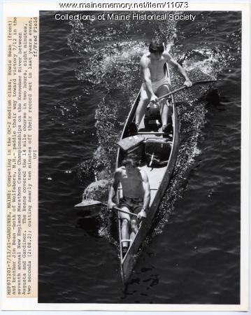 New England Marathon Canoe Championships, Gardiner, 1981