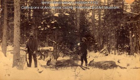 Successful hunt, Houlton, ca. 1895