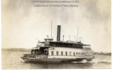 Gov. King ferry, Bath, ca. 1920